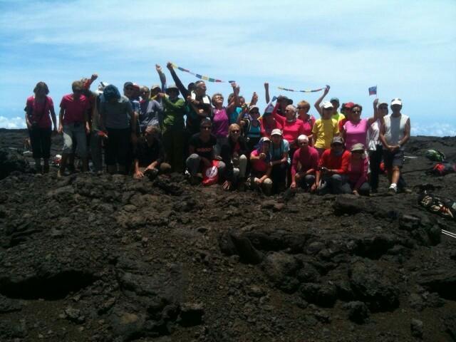 Toute l'équipe au coeur du volcan