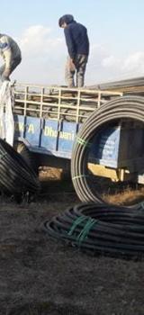 déchargement des tuyaux