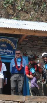 Reception au village et inauguration école 2013