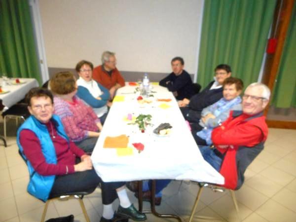 Table des anciens présidée par Michel et Antoinette