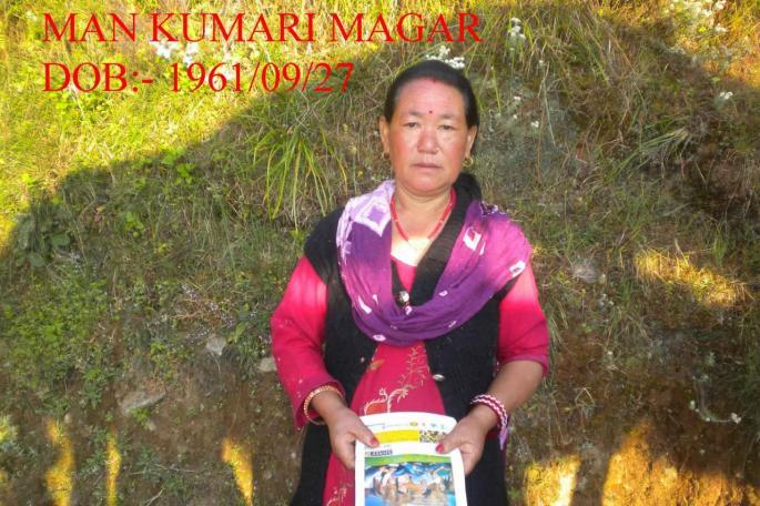 Man Kumari MAGAR Neé 27 Séptembre 1961